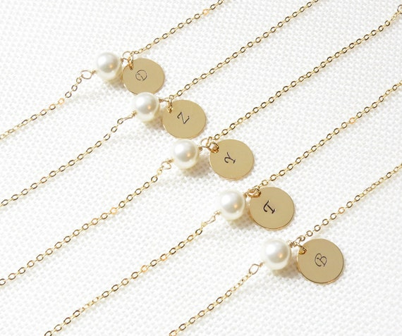 Personalized Pearl and Initial Bracelet