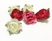 Artificial Ranunculus Buds - 6 Pcs - Assorted Colors, OOAK Artificial Flowers, Silk Flowers, Flower Crown