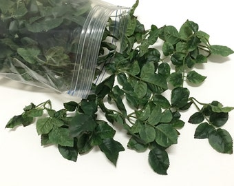 One Gallon Bag Artificial Double Rose Leaves - Greenery - Filler, Artificial Leaves, Flower Crown