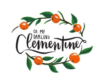 Clementine Print instant download
