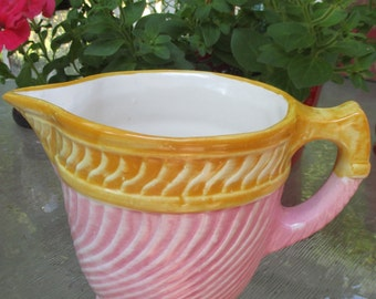 Vintage Fioriware Pitcher - Pink and Yellow - Has Small Chip on Spout