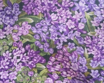 Reds Meadow R.J.R. Purple Azalea Cotton Fabric 2 yards by 44 inches