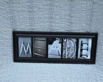 Alphabet photography spells 5 letter last name, Alphabet photos, FRAMED, personalized name photos, Name pictures, Teacher name,