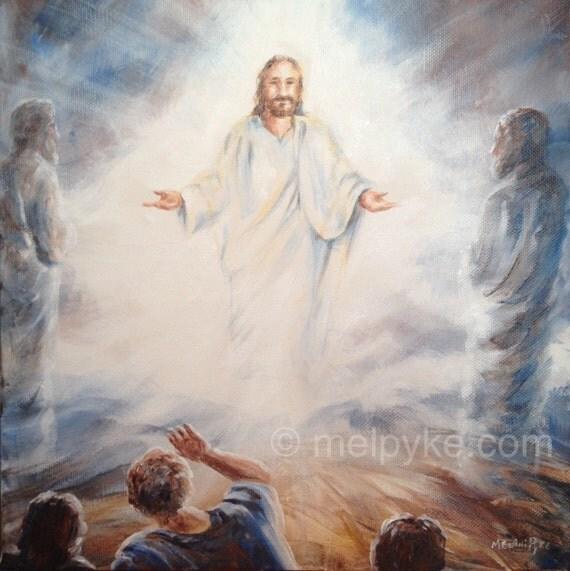 The Transfiguration of Jesus original painting on canvas
