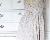 Sale Vintage Fairy Tail Top Sexy Lolita Rhinestone Buckles Lilac & Green