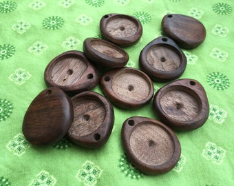 DIY Empty Wooden Pendant for Needle Felted Necklace or Ornament