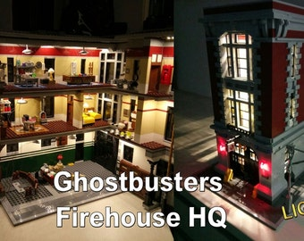 PreOrder - Ship in November - Light up kits for LEGO 75827 Ghostbusters Firehouse HQ - (Model not included)