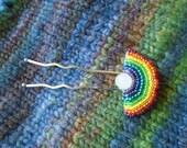 Rainbow Shawl Pin or Hair Stick