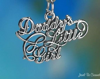 Sterling Silver Daddy's Little Girl Charm for a Daughter Solid .925