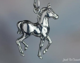 Baby Horse Charm Sterling Silver Foal Colt Filly Equine Solid .925