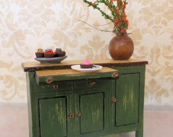 Handmade Dollhouse Sideboard  In 1:24 Half Scale by FatCatDesigns