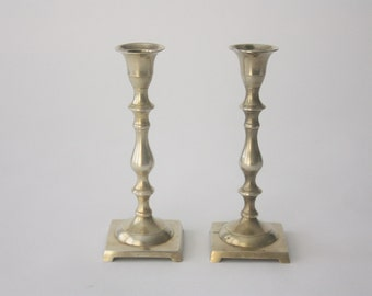 Vintage Pair of Brass Candlesticks
