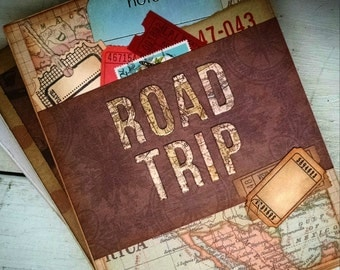 Road Trip Travel Journal Notebook Smashbook Art Journal Travel Vacation Honeymoon