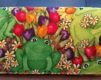 Frogs Checkbook Cover