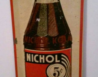 Sign Nichol Kola - Cola Sign - Soda