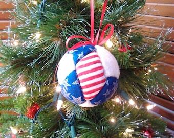 Patriotic Decor, Patriotic Ornament, Christmas Decorations, Christmas Ornaments, Christmas Tree, Gift Under 10, Gift for Soldier