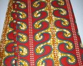 Wax print African fabric per yard, Red mix Ankara, African Maxi skirt fabric, African clothing, African quality Prints