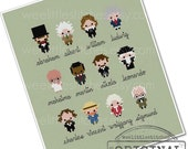Historical Heroes Sampler - The Gents - The *Original* Pixel People Minis - PDF Cross-stitch Pattern - INSTANT DOWNLOAD