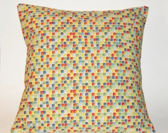 Multi-Colored Pillow Cover, Bright and Colorful Pillow Cover, Colorful Accent Pillow, Colorful Decor