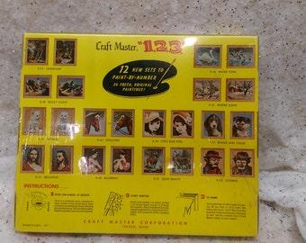 Vintage Paint by Number Unopened Unused Craft Master 1960s Rocky Coast