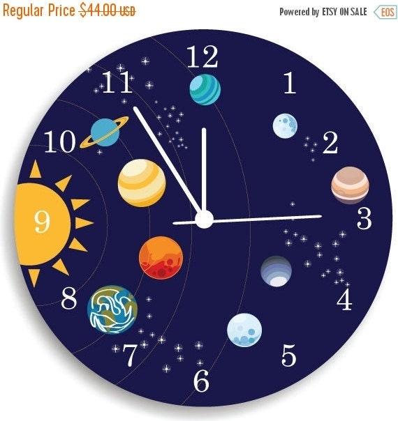 ON SALE Children Wall Clock Nursery Room Decor by ...