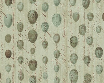 Flora & Fauna - Speckled Eggs in Green by Brenda Walton for Blend Fabrics