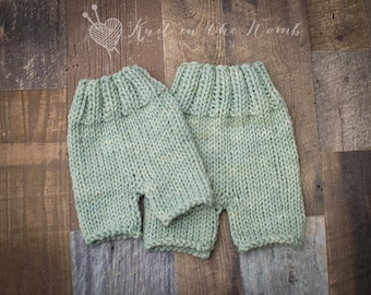 Sitter Hand Dyed Shorts - READY TO SHIP - photo prop - green - mint