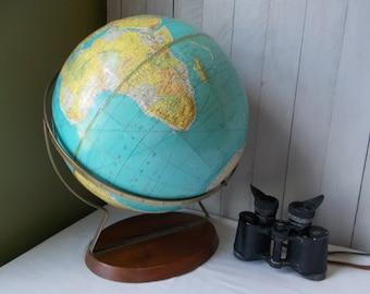 Mid Century World Globe by Rand McNally