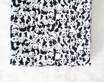 Panda Changing Pad Cover,  Contoured Changing Pad Cover, black and white changing pad cover, gender neutral nursery