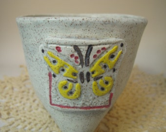 Yellow Butterfly tripod mug