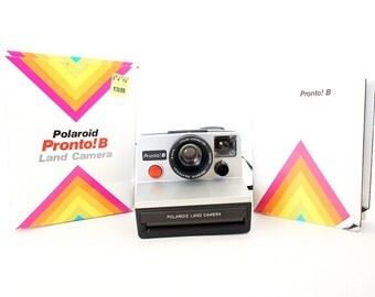 Polaroid Camera SX-70 Pronto B OneStep w/ Original Manual and Box - Film Tested Working