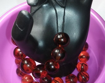 Vintage Cherry Amber Lucite Beads