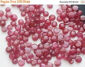 55% 4TH of JULY SALE Ruby, Loose Ruby Gems, Plain Ruby Round, Ruby Cabochons, 3-5mm, 25Ctw, Loose Ruby Gemstone Lot