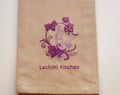 Grapes & Wine Tea Towel   Embroidered Kitchen Towel   Personalized Kitchen Towel   Kitchen Towel   Embroidered Towel   Embroidered Tea Towel