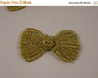 ON SALE Gold Beaded Frog Closure--One Piece