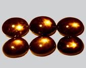 SAPPHIRE  (31026) -  Parcel (6 Gems)  5 x 7mm  6-Ray Black Diffusion Star Sapphire - Thailand