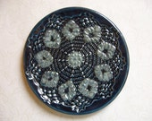Misty Storm Pottery Doily Dish or Spoon Rest