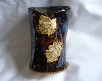 Magical Iris Bark Pottery Bud Vase