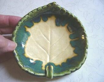 Harvest Pottery Leaf Bowl or Dish