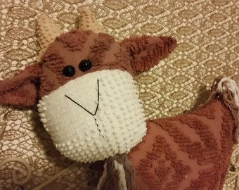 chenille pillow goat
