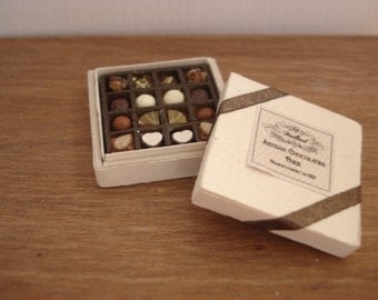 Miniature box of chocolates