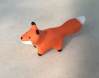 Cute Little Fox made from Polymer Clay