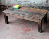 SALE Reclaimed Rustic Coffee Table Handmade Vintage Indian Furniture Boho Industrial Import Furniture