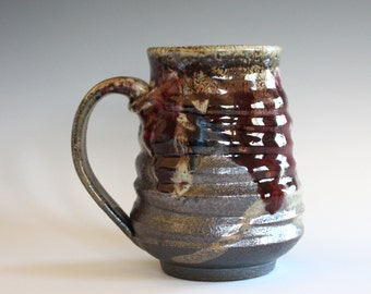Pottery Coffee Mug, 18 oz, handmade ceramic cup, ceramic stoneware mug, coffee cup