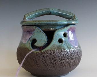 Yarn Bowl, Kitty-Proof Yarn Bowl, cat yarn bowl, ceramic yarn bowl, knitting bowl, yarn holder