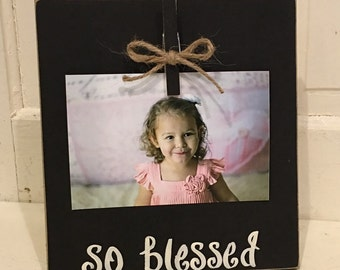 So Blessed photo clip board