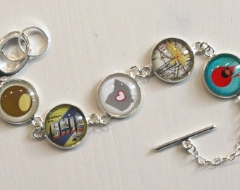 Custom Glass Charm Bracelet
