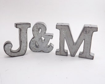 Your Choice Letter / Small Metal Letter / Industrial Letter / Metal Letter M / Tin Metal Letter