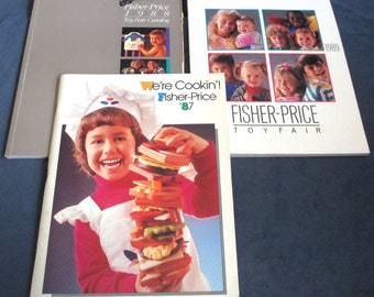 Fisher-Price Little People three Toy Catalogs 1987 to 89