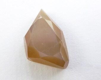 MOONSTONE. Natural. Gray Moonstone. White Metallic Sheen Geometric High Dome Daisy Cut Cabochon. 1 pc. 14.3 cts. 20x13x8 mm (MS356)